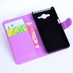 Alcatel One Touch Pop D5 (OT-5038E) Wallet Stand Hoesje Paars