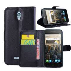 Alcatel One Touch Pop S7 Wallet Stand Hoesje Zwart