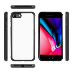 Apple iPhone 7 | 8 TPU Gripcase Hoesje Zwart/wit