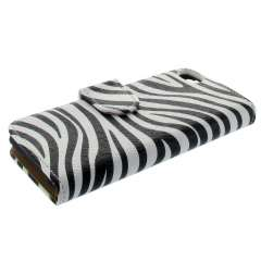 Bookstyle Case Apple iPhone 5C Zebra Wit