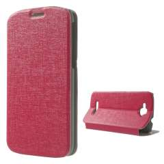 Bookstyle Stand Case Alcatel One Touch Pop C7 Roze