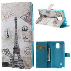 Bookstyle Stand Case Samsung Galaxy Note 4 Eiffel Tower