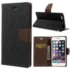iPhone 6 Plus | 6s Plus Mercury Stand Case Hoesje Zwart/Bruin