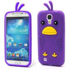 Samsung Galaxy S4 i9500 Chicken Silicone Case  Paars