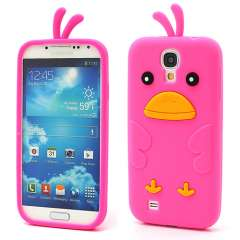 Samsung Galaxy S4 i9500 Chicken Silicone Case Roze