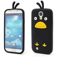 Samsung Galaxy S4 i9500 Chicken Silicone Case Zwart
