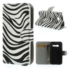 Wallet Stand Case Alcatel One Touch Pop C5 Zebra