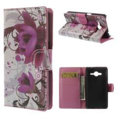 Wallet Stand Case Samsung Galaxy Core 2 Lotus