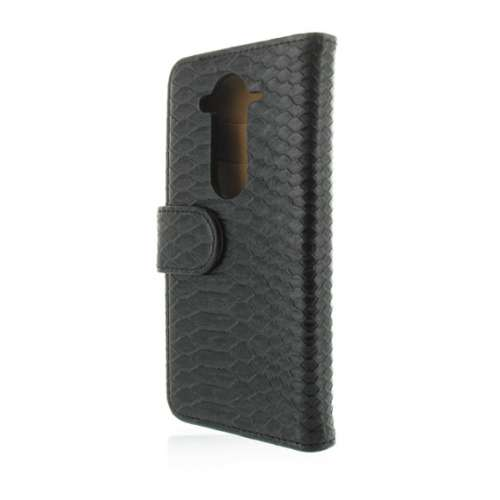 Acer Liquid E3 Hoesje Zwart Slangenprint (Wallet Case)