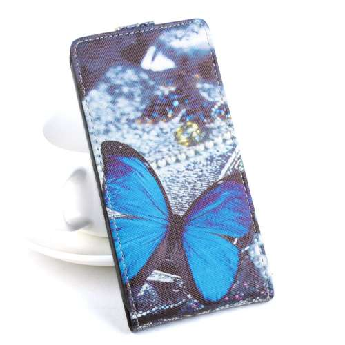 Acer Liquid Z520 Fliphoesje Blauwe Vlinder