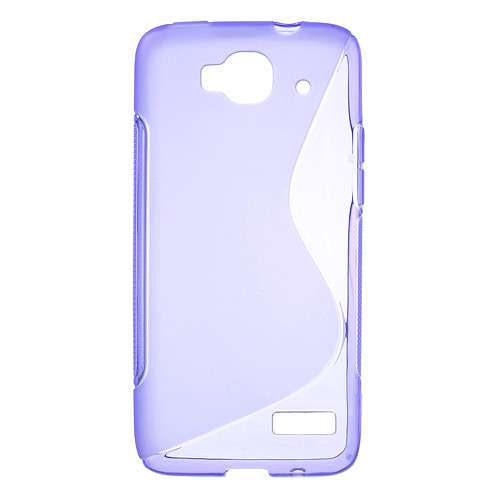 Alcatel One Touch Idol Mini TPU Case S-Shape Paars