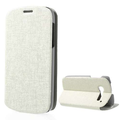 Alcatel One Touch Pop C5 Bookstyle Stand Case White B2Ctelecom