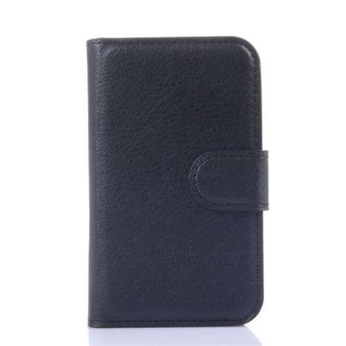 B2Ctelecom Alcatel One Touch Pop D1 Hoesje Zwart met Opbergvakjes