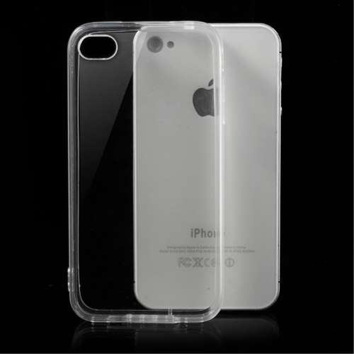 Apple iPhone 4-4S Hoesje Transparant (flexibel)