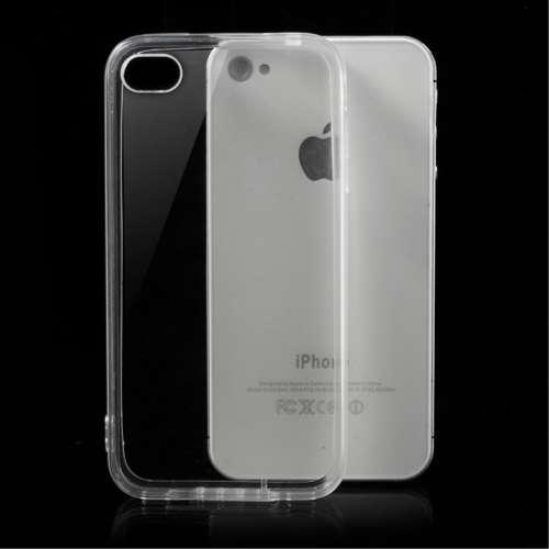 Apple iPhone 4-4S Hoesje Transparant (flexibel)