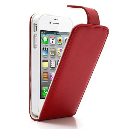 Apple iPhone 4 of 4S Flipcase Hoesje Rood