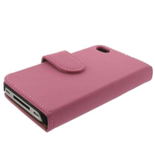 Apple iPhone 4 of 4S Mat Boekstyle Case Hoesje Pink