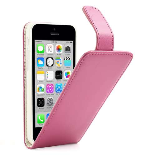 Apple iPhone 5C Fliphoesje Case Lichtroze