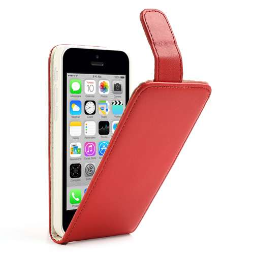 Apple iPhone 5C Fliphoesje Case Rood