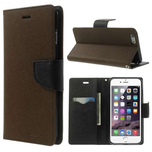 Apple iPhone 6 Plus Mercury Stand Case Hoesje Bruin