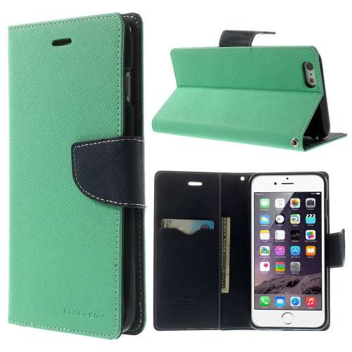 Apple iPhone 6 Plus Mercury Stand Case Hoesje Cyaan