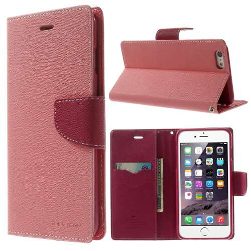 Apple iPhone 6 Plus Mercury Stand Case Hoesje Lichtroze