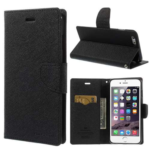 Apple iPhone 6 Plus Mercury Stand Case Hoesje Zwart