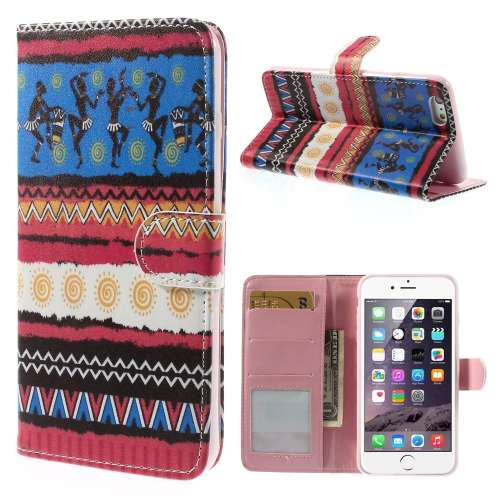 Apple iPhone 6 Plus Stand Case Hoesje Afrikaanse Print