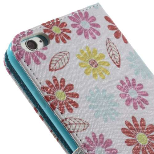 Apple iPhone 6 Plus | 6s Plus Stand Case Hoesje Bloemen Print