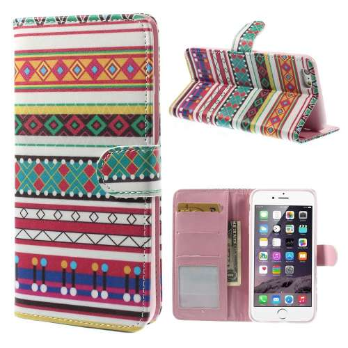 Apple iPhone 6 Plus Stand Case Hoesje Geometrische Print