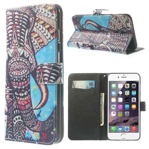 Apple iPhone 6 Plus Stand Case Hoesje Olifant