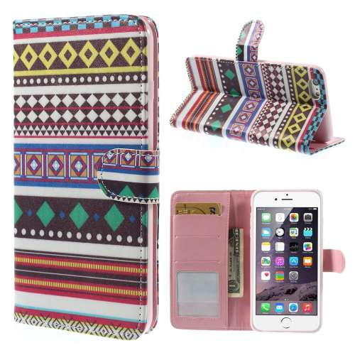 Apple iPhone 6 Plus Stand Case Hoesje Ruitpatroon