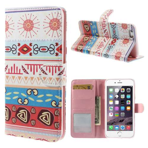 Apple iPhone 6 Plus Stand Case Hoesje Zomer Print
