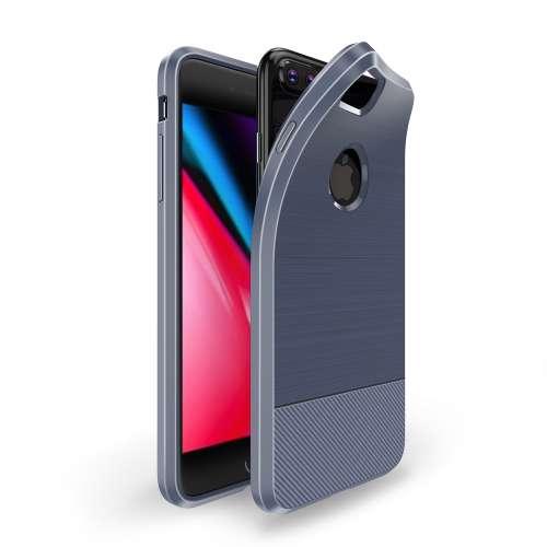 Dux Ducis Apple iPhone 7 Plus | 8 Plus TPU Hoesje Geborsteld Blauw