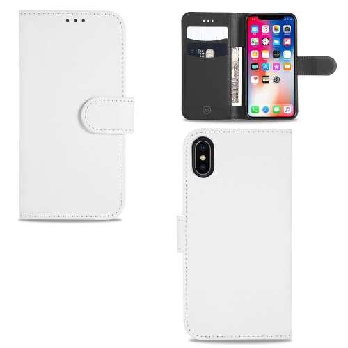 Apple iPhone 8 Telefoonhoesje Wit met Opbergvakjes