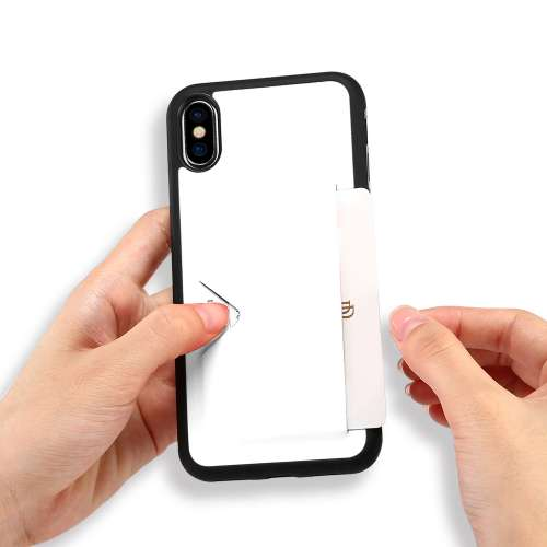 Apple iPhone X | Xs TPU Hoesje Wit met Pashouder