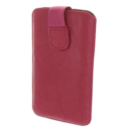 B2C Leather Case Galaxy Core i8260 Washed Pink