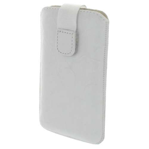 B2C Leather Case Galaxy Core i8262 Washed White