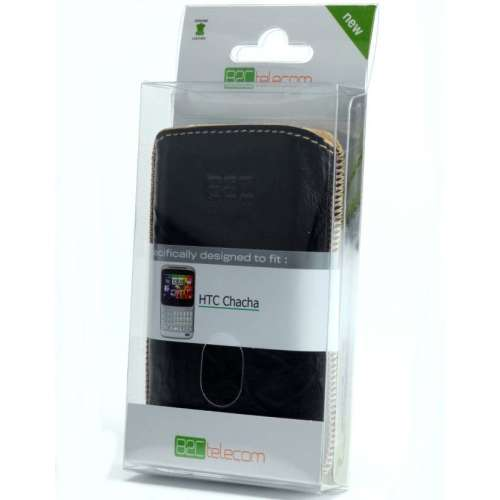 B2C Leather Case HTC ChaCha Washed Black