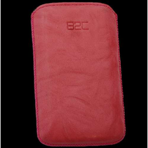 B2C Leather Case HTC Wildfire S Washed Pink