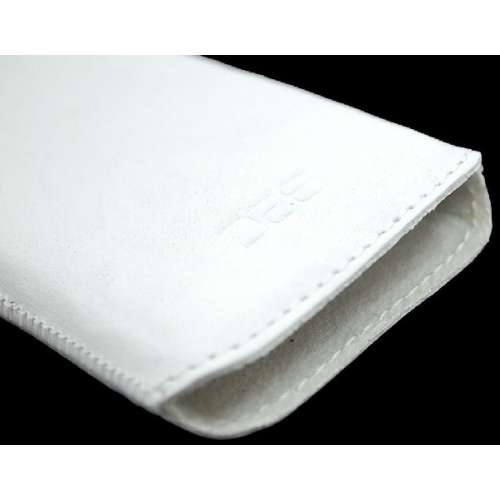 B2C Leather Case HTC Wildfire Washed White