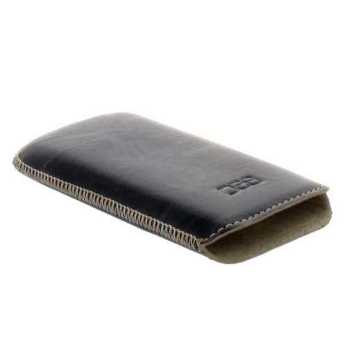 B2C Leather Case Nokia Asha 501 Washed Black
