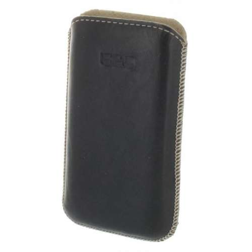 B2C Leather Case Samsung Galaxy Mini 2 S6500 Black