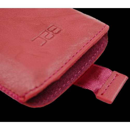B2C Leather Case Samsung Galaxy Y S5360 Pink Met Strap