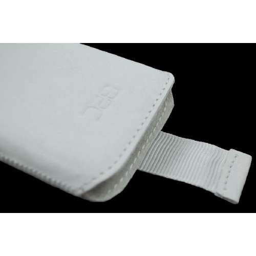 B2C Leather Case Samsung Galaxy Young S6310 Washed White