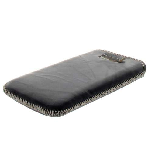 B2C Leather Case Samsung S5830 Galaxy Ace Washed Zwart