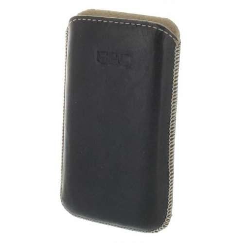 B2C Lederen Hoesje iPhone 4-4S Zwart