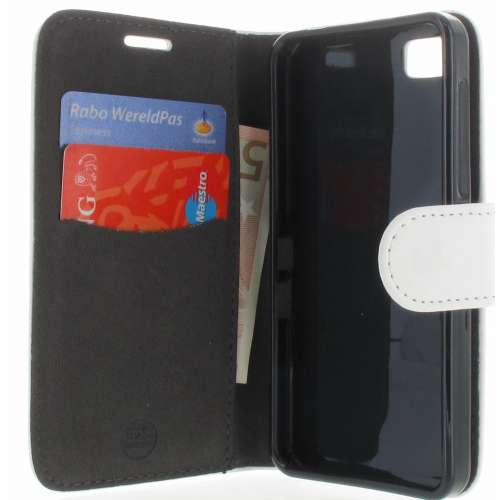 Blackberry Z10 Boekhoesje Wit met Opbergvakjes