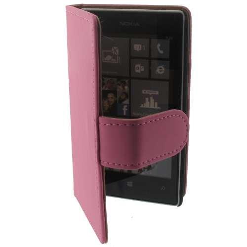 Premium Bookstyle Hoesje Nokia Lumia 520 Mat Roze