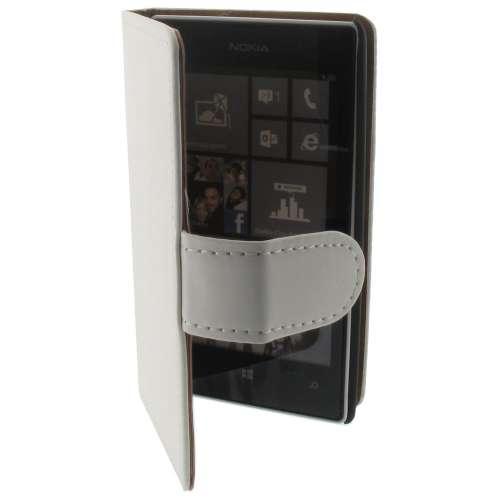 Premium Bookstyle Hoesje Nokia Lumia 520 Mat Wit